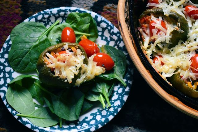 Cabin Cleaver: Southwestern Meatless Stuffed Peppers