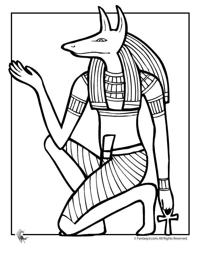 Fantasy Jr. | Egyptian God Anubis Coloring Page