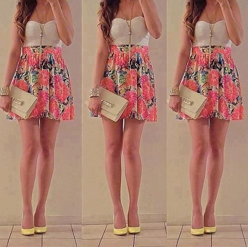 simple floral dress, effortlessly pretty
