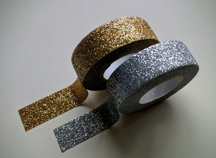 Add a stripe of sparkle to your creations! Our gold & silver glitter tapes are a perfect companion for cards, scrapbook layouts, or journals!