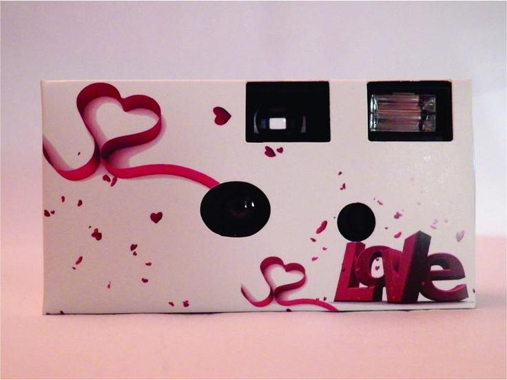 Câmera descartável para os convidados tirarem fotos!