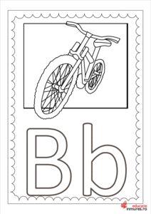 Litera B - planșă de colorat