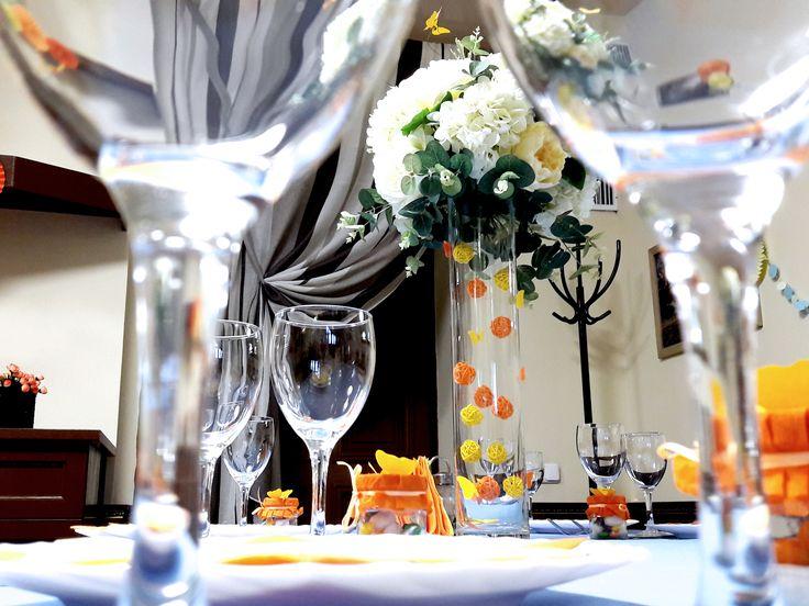 Высокие вазы на стол гостей. День Рождение