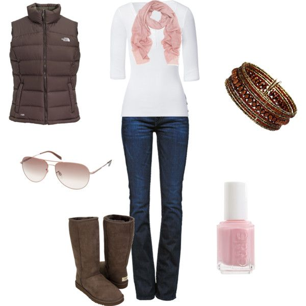 Pink and Chocolate. cute for fall!Brown And Pink Outfit Casual, Chocolate Brown Uggs Outfit, Women Fashion, Cute Fall Outfits, Style, Pink Clothing, Winter Outfit, Brown Ugg Boots Outfit, Hair Awesome