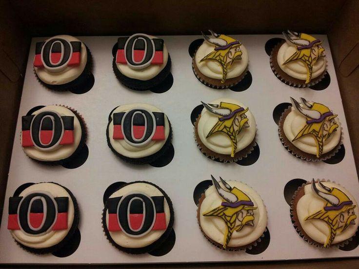 Sports logo cupcakes