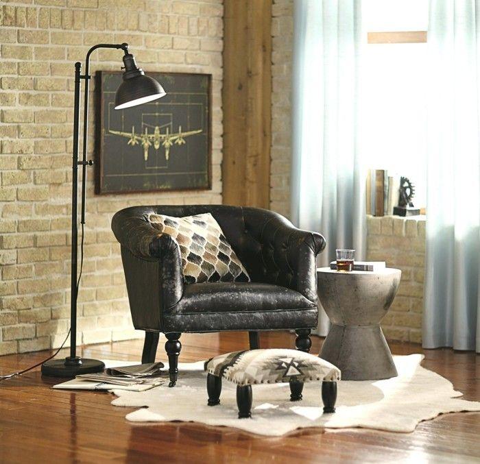 Wohnzimmer Lampe Industrielle Stehlampe Fr Den Erholungsbereich