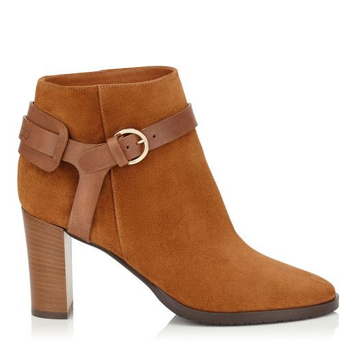 Hose 80 Ankle Boots in Canyon Suede and Vacchetta Leather.