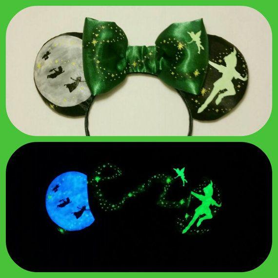 Glow in the Dark Peter Pan Ears plush Peter Pan by Earsboutique