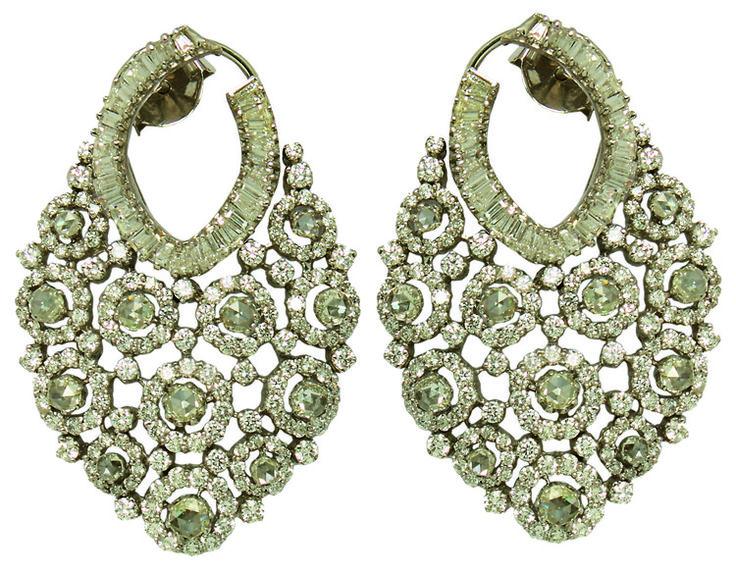 Pair of Diamond earrings by Anmol