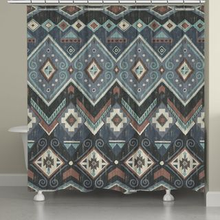 Greenland Home Fashions Folk Festival Rustic Shower Curtain | Overstock.com Shopping - The Best Deals on Shower Curtains
