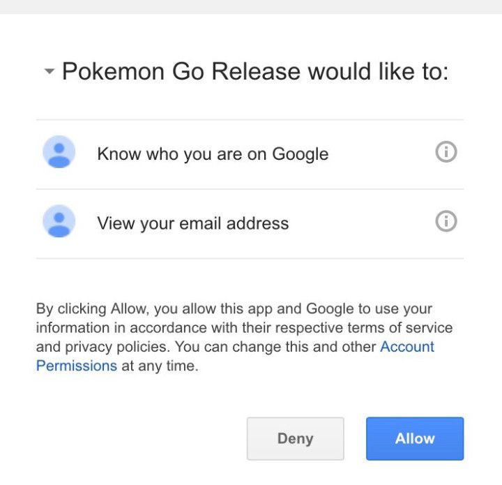 UPDATE:In a statement attached to the first patch to the game, released today, Niantic said it �Fixed Google account scope.� iOS users who sign…