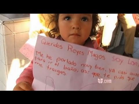 Carta a los Reyes Magos - YouTube Mexico video clip with kids' letters and sending them to the 3 kings via balloons