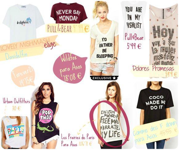 Moda: Tendencia camisetas con mensaje. #fashion #trend