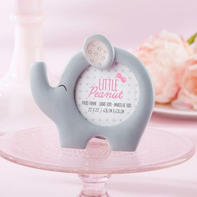 little elephant baby shower picture frame party favors