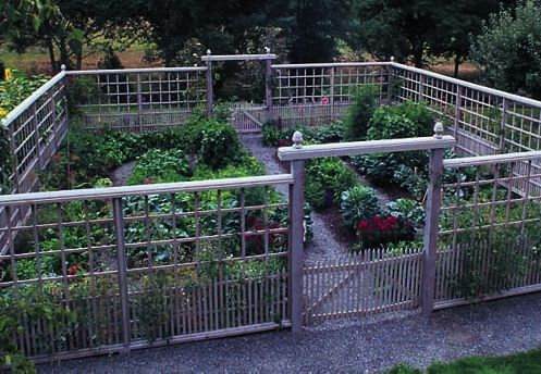 If you live in deer country, growing a garden can be a challenge. This fence and enclosure design however has kept deer away successfully for years.