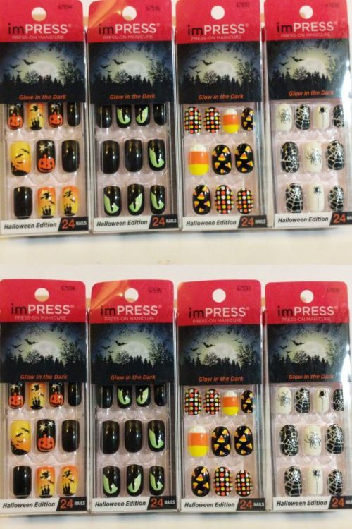 press on nails 182108 4x kiss impress broadway press on nails halloween glow in the dark buy it now only 1899 on ebay