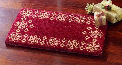 TAG 201585 18-Inch by 30-Inch Red Festive Holiday Coir Door Mat by Tag. $18.90. For best results please use in a covered area. Can be shaken or vacuumed clean. Hardy long lasting fibers are used. Standard 18-inch by 30-inch size. We utilize high quality fade resistant inks in printing process. Our coir mats are made from a natural, renewable fiber by skilled crafts people in small villages in India. Using traditional processes coconut fibers are harvested and collected ...