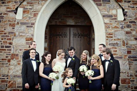 Navy and Black Bridal Party | Alison Conklin Photography | TheKnot.com