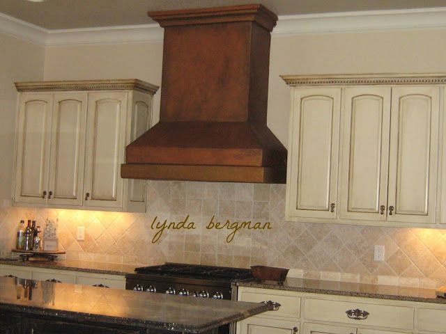 lynda bergman decorative artisan newly painted kitchen venta hood with metallic