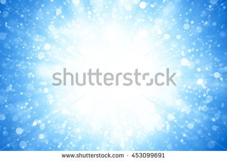 light backdrop abstract background. Blue glitter sparkle defocused radial rays lights bokeh beautiful abstract background