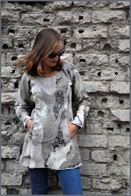 """Кофты и свитера ручной работы. Ярмарка Мастеров - ручная работа. Купить Платье-свитер """"Единение"""". Handmade. Хаки, платье"""