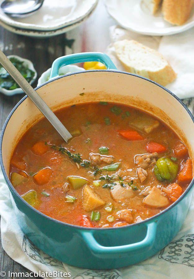 jamaican chicken and pumpkin soup  recipe in 2020