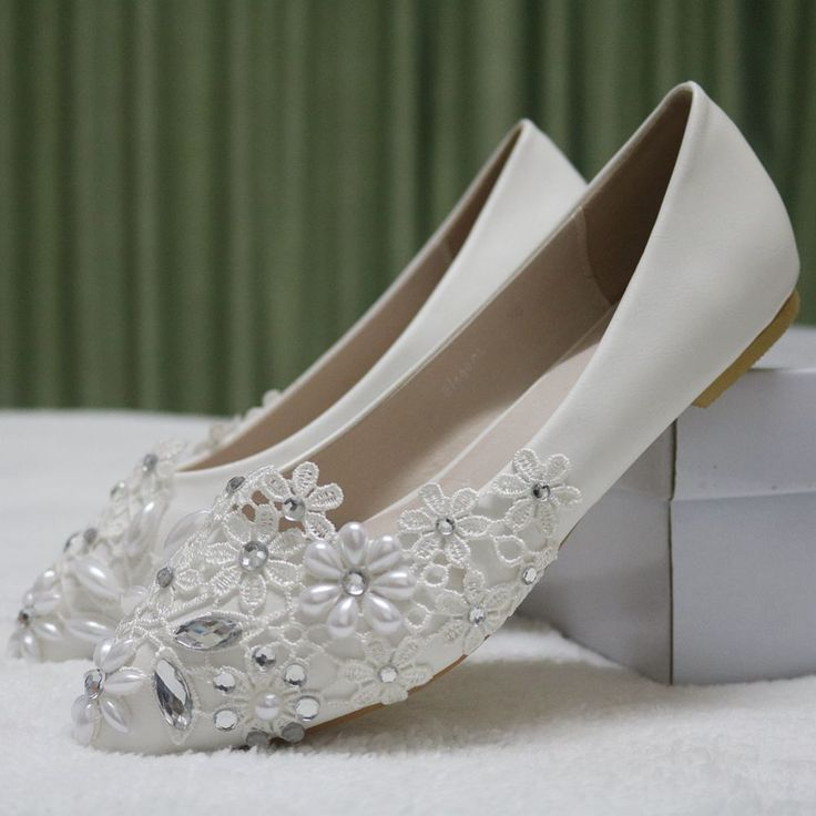 White Lace woman's fashion shoes bridal wedding shoes New arrival girl's party shoes