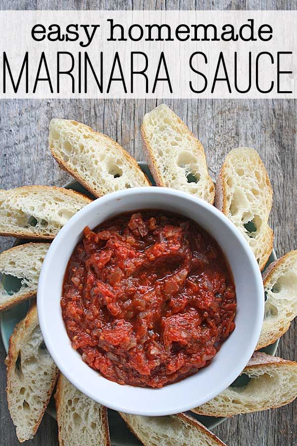 Make this easy homemade marinara sauce from scratch with either fresh tomatoes or canned tomatoes - so delicious you'll want it every time!