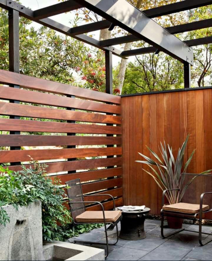 Modern Backyards: 29 Best Modern Horizontal Fence Design Images On Pinterest