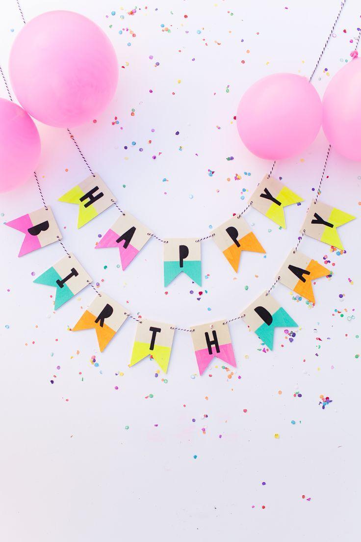 Wood Birthday Banner Geburtstagsgirlande Diy Party Ideen Und Partys