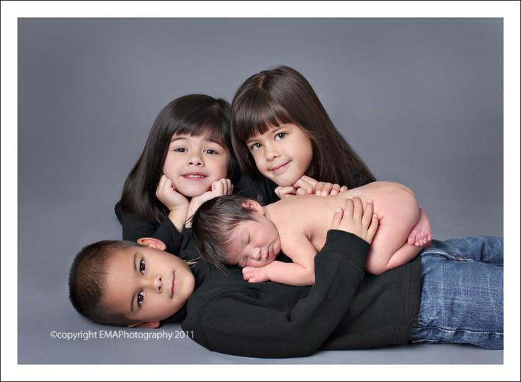 Newborn baby with 3 siblings newborn studio portraiture greensboro newborn photographer heather mcginnis photography pinterest newborn