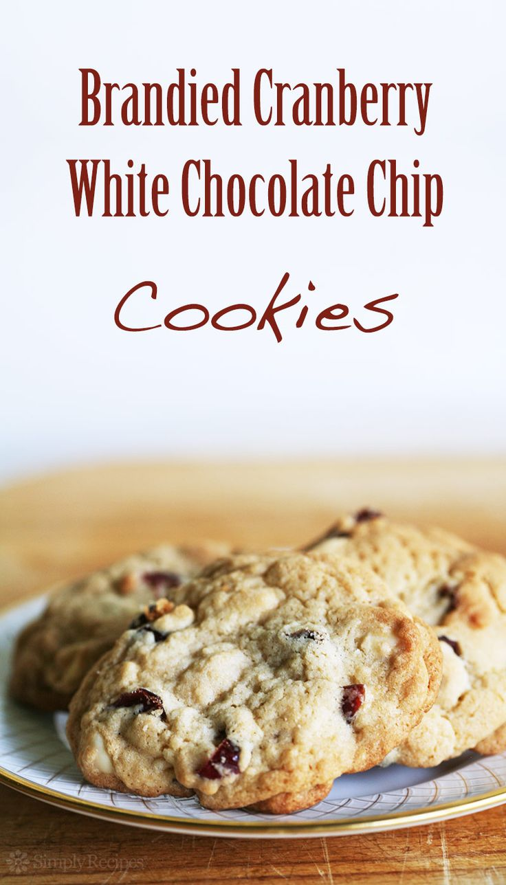 ... Cranberry, White Chocolate Chip Cookies ~ Dried cranberries