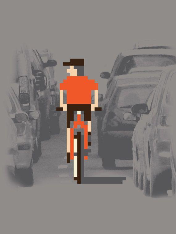 Rush Hour #pixel #shirt #bike