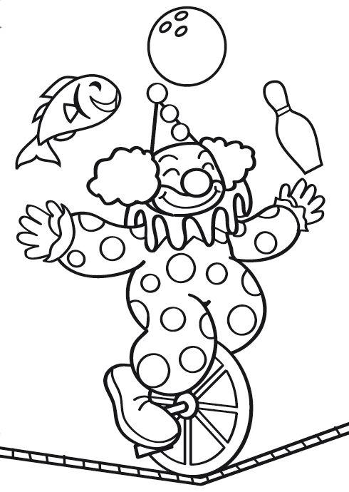 Dibujos para Colorear Circo 16 Más