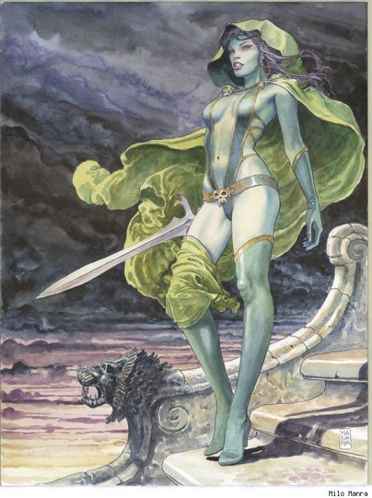 Guardians of the Galaxy Gamora cover by Milo Manara