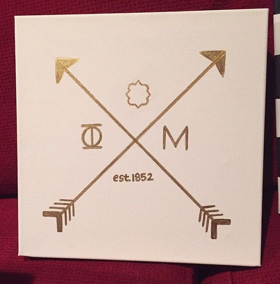 This chic canvas is perfect for any sorority girl! If you need a different sorority just let me know