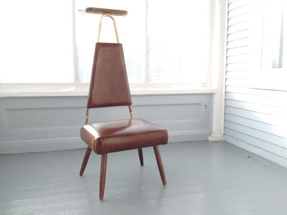 Handsome Mid Century Modern Valet Clothes Stand, Vintage, Gentlemans Chair, Clothes Valet, Vintage