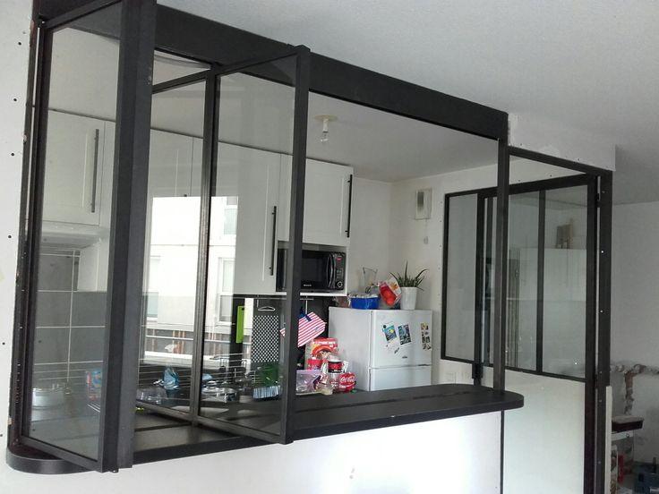passe-plat à guillotine Ré Pinterest Atelier, Cuisine and Window