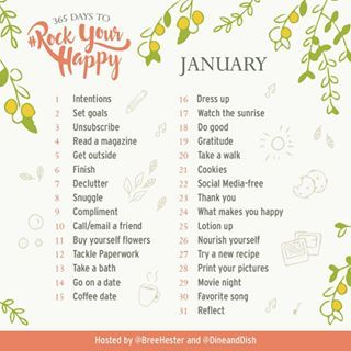 Were so excited to share our January prompts for the  Days to Rock Your Happy Challenge Through little actions every day were all going to bring more happiness in our livesYoull find the detail surrounding each prompt along with extra tips and happiness resources in our weekly email Link to sign up is in my profile  Wed love it if you would share the prompts with your friends tag breehester and dineanddish in any shares during the challenge and using the hashtag rockyourhappy We want to…
