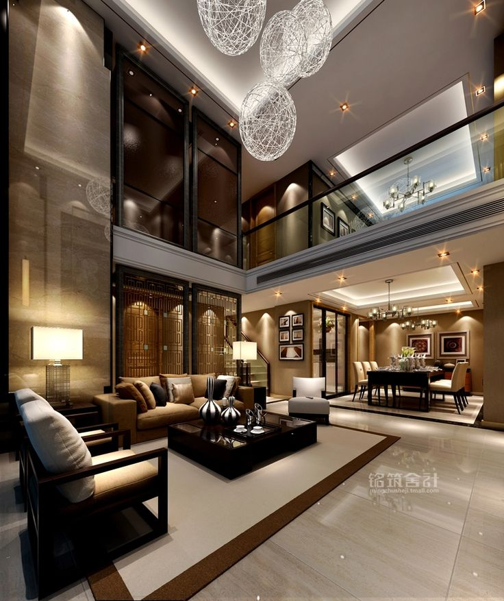 Inspiring modern living room decoration for your home for Modern mansion interior