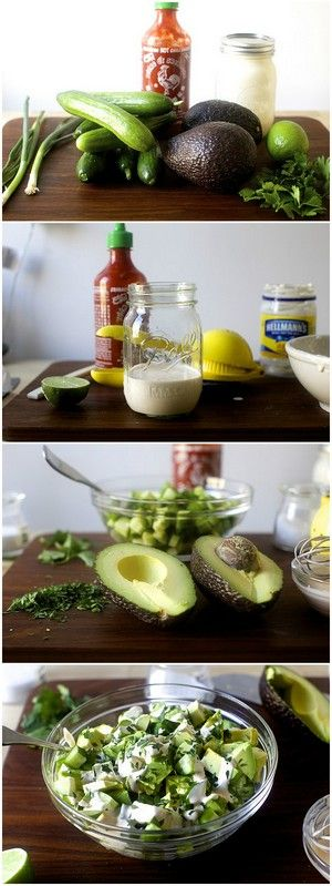 Obsessively Good Avocado Cucumber Salad | Bake a Bite // In need of a detox? 10% off using our discount code 'Pin10' at www.ThinTea.com.au