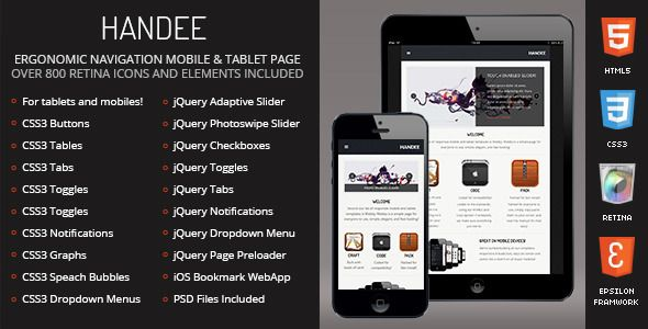 Handee | Mobile & Tablet Responsive Template
