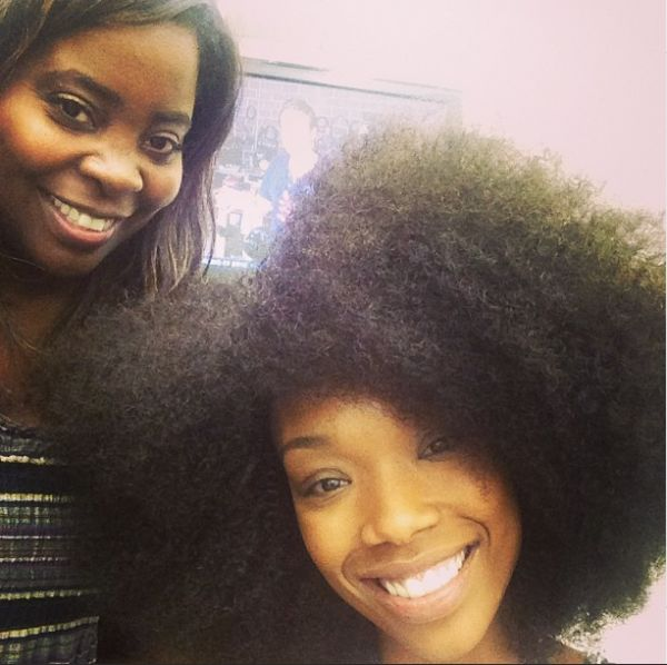 Brandy with her natural hair.....
