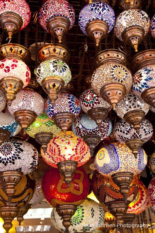 Turkish lamps at a market in Kusadasi, Turkey. © Brian Jannsen Photography