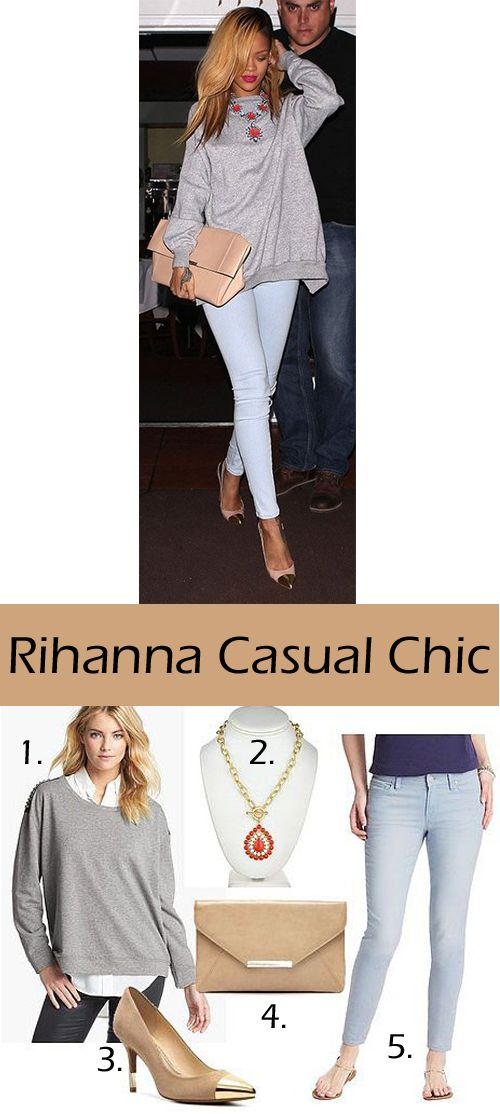 Spry On The Wall: My Take - Rihanna Casual Chic