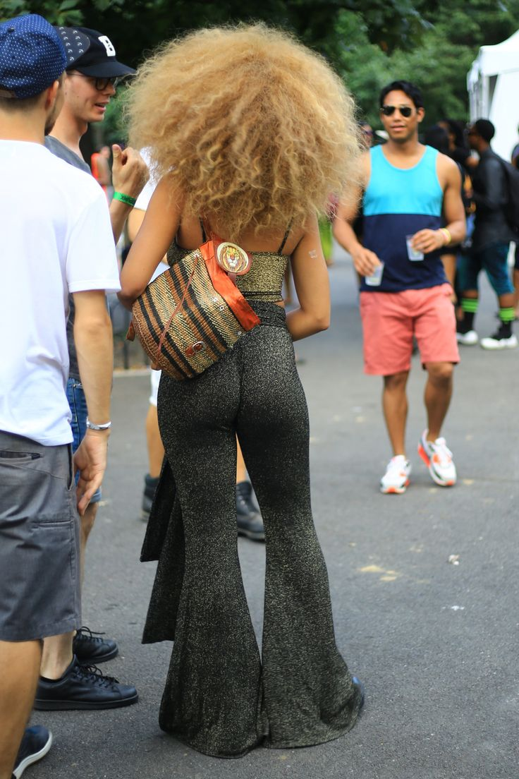 Jillian Hervey from the back at Afro Punk 2015. by aagdolla