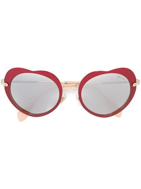 Miu Miu Heart Shaped Sunglasses