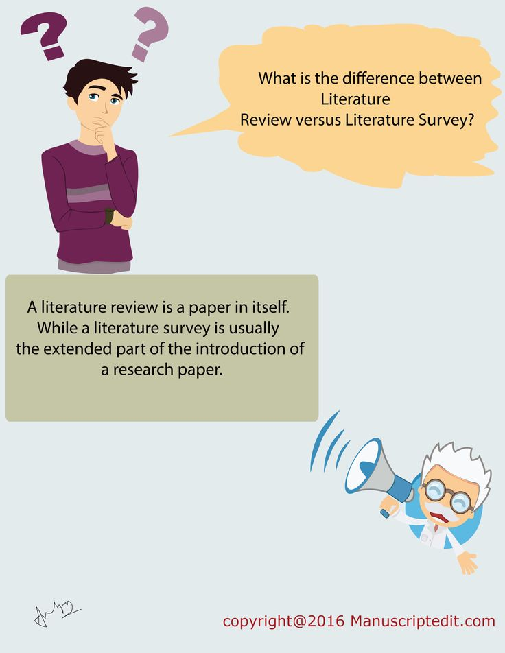 literature review versus research paper The main focus of an academic research paper is to develop a new argument,  and a research paper is likely to contain a literature review as one of its parts.