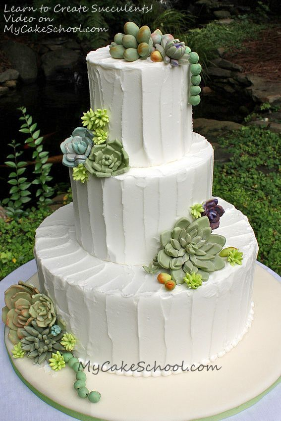 Learn To Make Succulents A Video Tutorial Cake Decorating Videos Cake Decorating Tutorials Cake Decorating Techniques