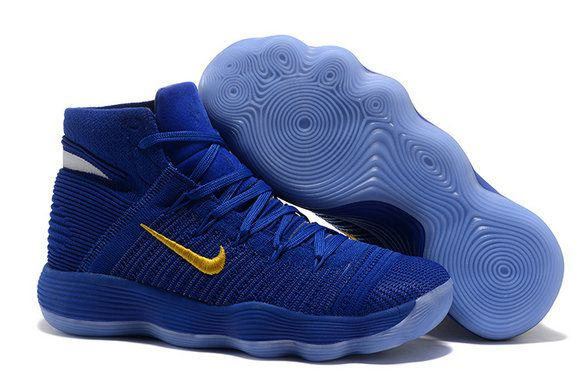 High Royal Blue Gold Basketball Shoe